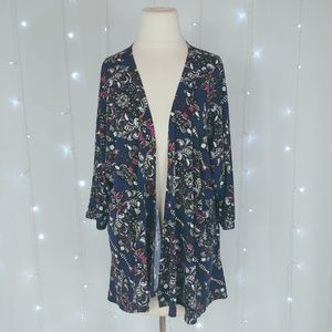 Lularoe Blue Lindsay kimono